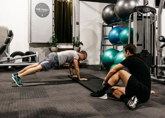 Pat Dall running a Personal Training Session with a client